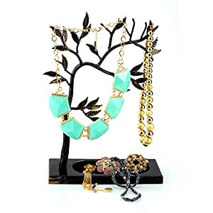 Geff House Jewelry Tree Organizer Display for Necklace, Bracelets, Earrings & Rings (Antique)