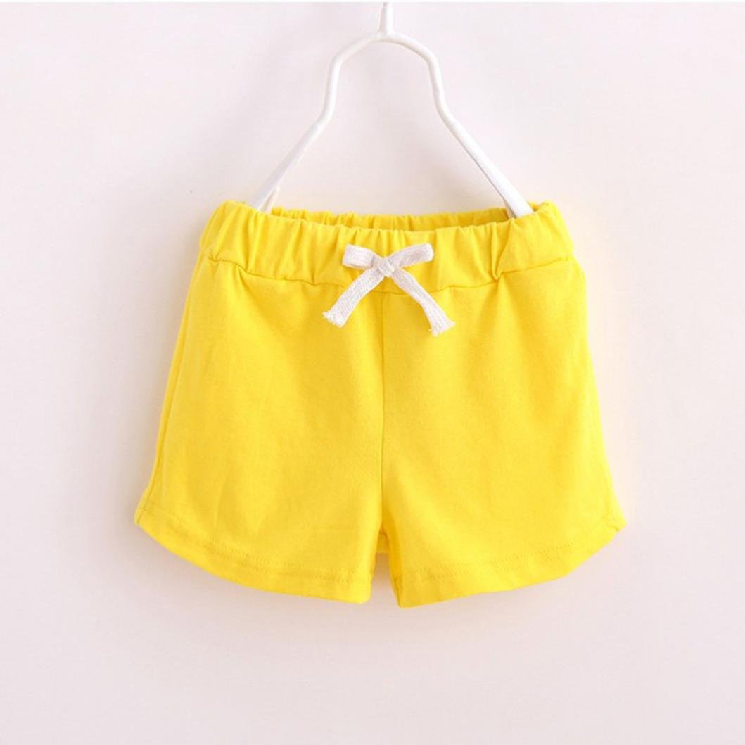 Fineser Toddler Little Boys Girls Kids Cotton Soft Harem Pants Pure Color Baby Shorts