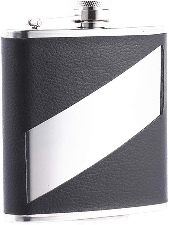Tollmllom Petaca Whisky Petaca - 8Oz - El Cobre Plateado de Acero Inoxidable - for Ocasiones Especiales del Regalo del día del Padre Matraz de Camping al Aire Libre