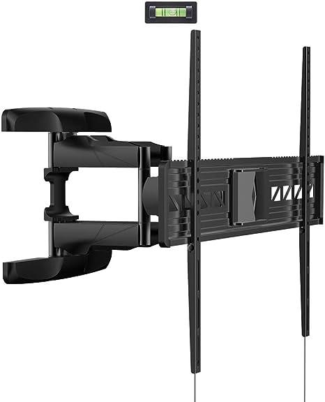 Loctek – Soporte de pared para televisor (giratorio, inclinable articulado LCD LED Super bajo perfil 47 50