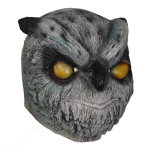 Rasmus Owl Mask Helmet for Adult Masquerade Cosplay Props Grey -