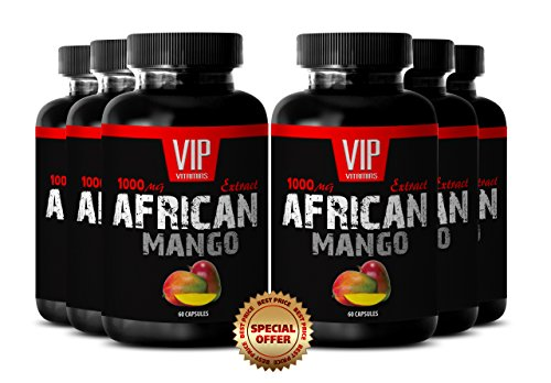 Burn calories fast - AFRICAN MANGO DIET PILLS - Iron supplement - 6 Bottles 360 capsules by MANGO
