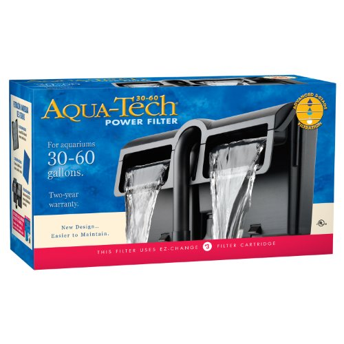 AquaTech Power Aquarium Filter, 30 to 60-Gallon Aquariums (Best Filtration System Aquarium)