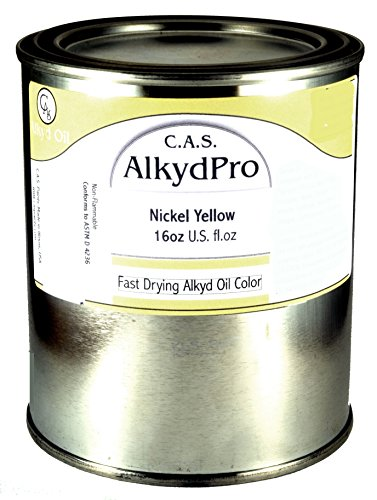 C.A.S. Paints AlkydPro Fast-Drying Oil Color Paint Can, 16-Ounce, Nickel Yellow ()