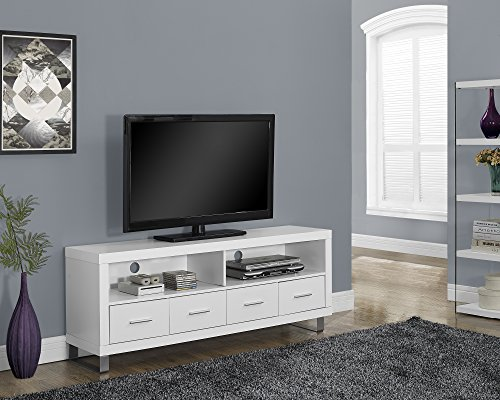 white metal tv stand - 2
