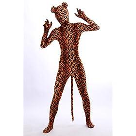 - 51eoaiw6lbL - Nedal Lycra Tiger Bodysuit Halloween Cosplay Zentai Aanimal Costume For Kids