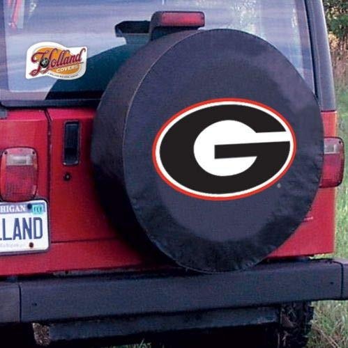 Holland Bar Stool TCSMGA-GBK 28.5 x 8 Georgia G University Tire Cover ()