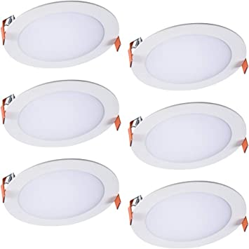 Halo HLB6099FS1EMWR-6PK HLB 6 in. Selectable CCT New Construction or Remodel Canless Kit(6 Pack) Recessed Integrated LED, White