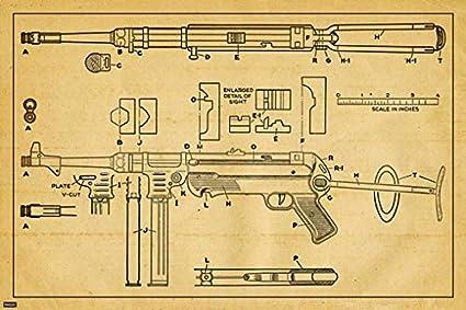 Amazon com: M40 Bolt-Action Sniper Rifle US Patent Blueprint