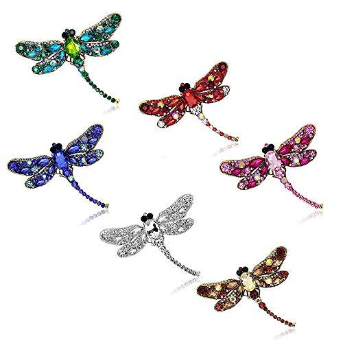 Crystal Rhinestone Dragonfly Brooch Pin Jewelry Birthday Gifts (Dragonfly Brooch ()