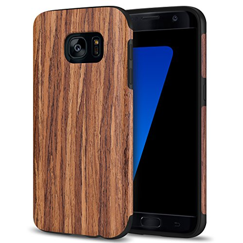 - TENDLIN Galaxy S7 Case Wood Veneer Soft TPU Silicone Hybrid Slim Case for Samsung Galaxy S7 (Red Sandalwood)