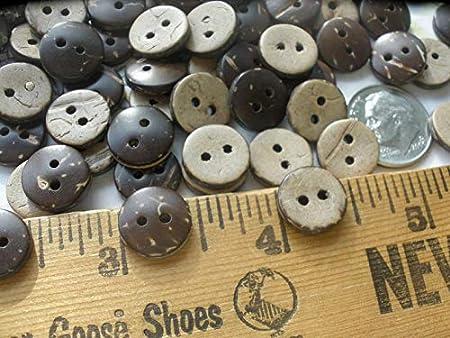 Little 11MM Coconut Shell Shirt Buttons 24 Each 18L 7/16