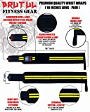 "Brutul Wrist Wraps 18"" with Thumb Loops Strong"