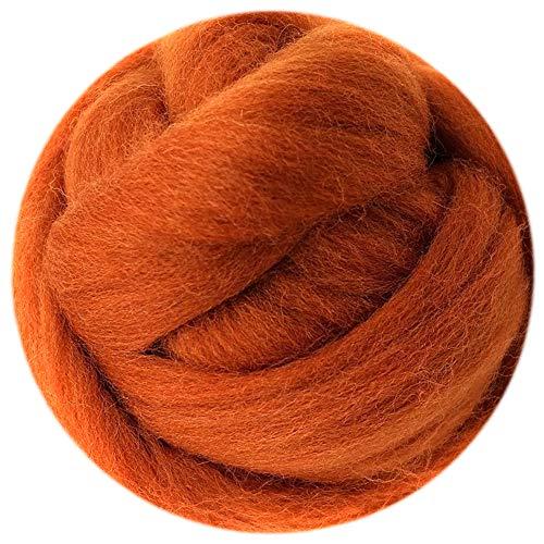 (0.35oz Needle Felting Wool Roving Merino 70S Grade Eco-Friendly Super Soft Natural Wool Fiber for Needle Felting Kit 40 Color Options (19))