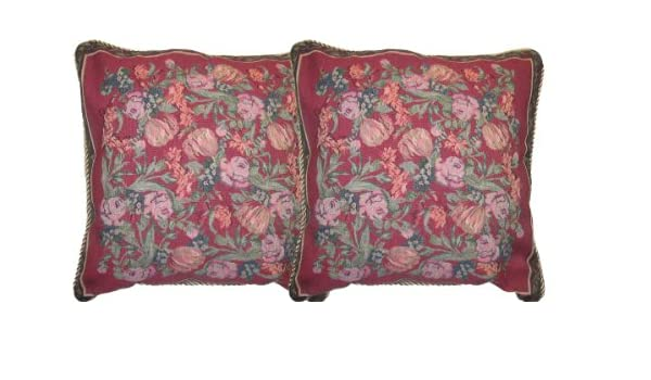 DaDa Bedding CC-5594 Field of Roses Woven Cushion Cover 18-Inch DaDa Bedding Collection Inc.