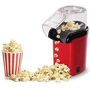 Popcorn Machine Maker Small Pop Pup 16 Cups, Home Kitchen Party Snack, Red