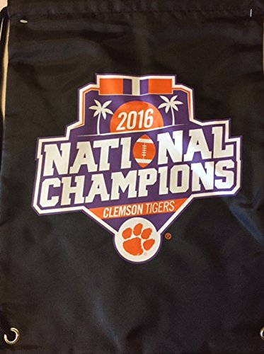 FOCO NCAA Clemson Tigers Unisex 2017 National Football Champions Drawstring Backpack: Orange, One (Clemson String Pack)
