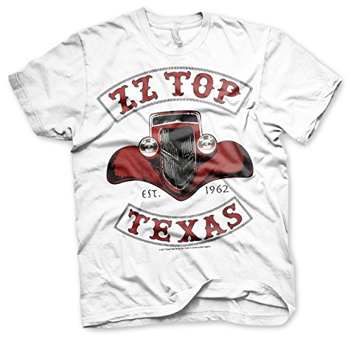 ZZ-Top Officially Licensed Texas 1962 Men's T-Shirt (White), X-Large ()