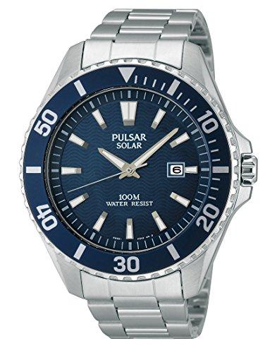 (Pulsar Solar PX3033X1 Mens Wristwatch Solid Case)