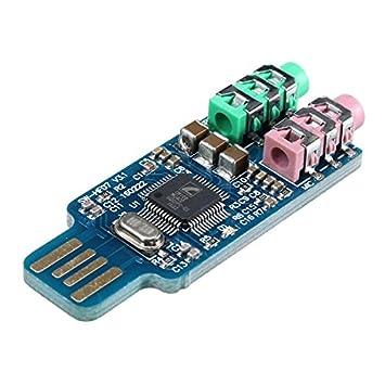 LaDicha Unidad Libre Tarjeta De Sonido USB Computadora ...