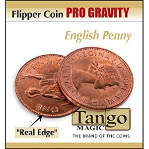 Flipper coin Pro Gravity English Penny by Tango - Trick