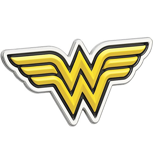 Fan Emblems Wonder Woman Logo 3D Car Emblem Black/Yellow/Chrome, DC Comics Automotive Sticker Decal Badge Flexes to Fully Adhere to Cars, Trucks, Motorcycles, Laptops, Windows, Almost -