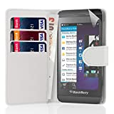32nd Book wallet PU leather case cover for Blackberry Z10 - White