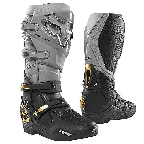 Fox Racing Instinct Men's Off-Road Motorcycle Boots - Grey/Black / 10