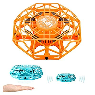 BEYOLO Hand Drone Flying Ball Toys , Kids Mini UFO Drone, Hand Operated Drones with 5 Sensors and 2 Speed, Easy Indoor Outdoor Flying Ball Drone Toys, USB Charging and Remote Controller (Orange): Toys & Games