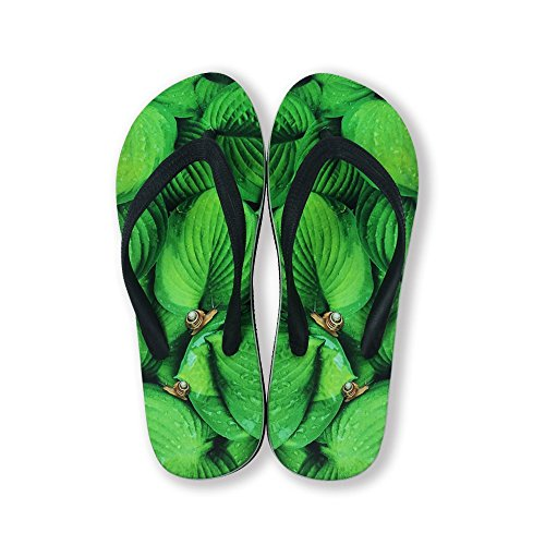 FOR U DESIGNS Footwear Unisex Men Women Funny Fashion Slip on V Flip Flops Sandals Beach Shoes Snail pGDdUw5tx