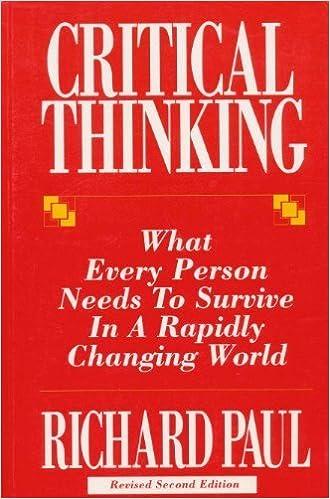 richard paul critical thinking everyday