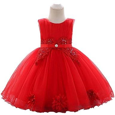 LADYLUCK Vestido Fiesta Niña Vestido De Fiesta Princesa Bebé ...