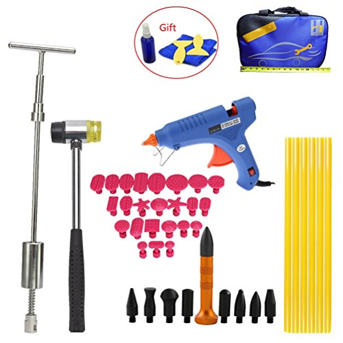 Price comparison product image VTOLO Pdr Kit Car Dent Removal Hand Tool Set Reflector Board Glue Gun Dent Puller Slide Hammer Tools Paintless Dent Repair