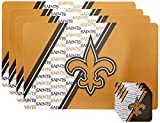 NFL New Orleans Saints Placemat Coaster Set