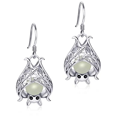 0900bfaa1 Apotie Sterling Silver Glow Cute Animal Bat Earrings for Kids,Women or  Girls: Amazon.co.uk: Jewellery