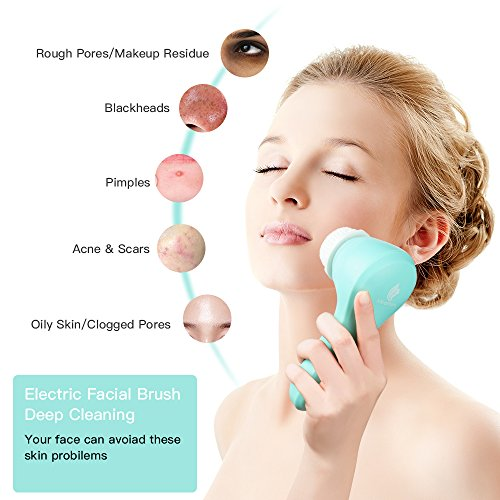 MiroPure Sonic Facial and Body Cleansing Brush, Professional Electric Face Brush 2 In 1 Waterproof Portable Wireless Charging Cleaning brush for All Skin Exfoliating Deep Cleaning by MiroPure (Image #4)