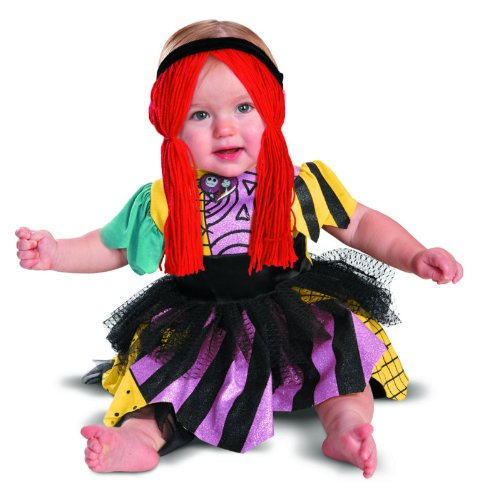 Disguise Costumes Tim Burtons The Nightmare Before Christmas Sally Prestige Infant, Yellow/Black/Purple, 12-18 (Christmas Costume For Toddler)