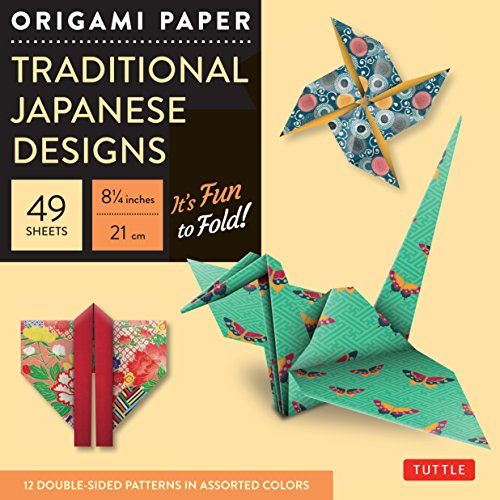 Origami Paper - Traditional Japanese Designs - Large 8 1/4