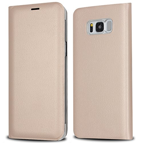 IMABAO Galaxy S8 Wallet Case Premium Protective Leather Durable Handmade Case Grade Drop Protection with Card Slot Holder for Samsung Galaxy S8 2017