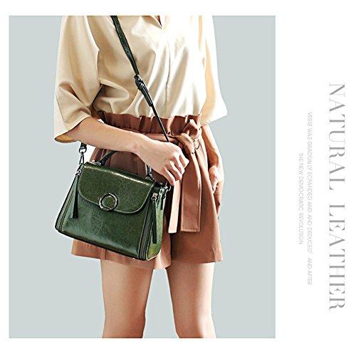 E Con Vera Nero A Fashion Media Tracolla Pelle Donna Boston Borsa In Patta Chiusura Per Yoome Mano Cerniera CS6fwxqCn