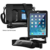 rooCASE Utility Sleeve Case with Breakaway Safety Carrying Strap for OtterBox Defender New 2017 iPad 9.7-inch and iPad Air 1 (First Generation 2014)