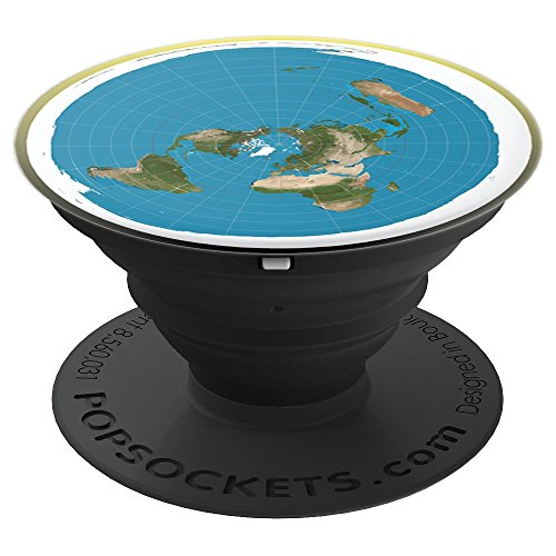 ace70952f The Flat Earth Pop Socket - PopSockets Grip and Stand for Phones and Tablets