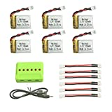Noiposi 6PCS Upgraded 3.7V 150MAH Battery with X6 Charger Conversion