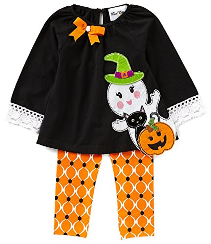 Rare Editions Baby Girls Halloween Ghost Top and