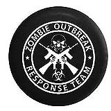 zombie response tire cover - Zombie Outbreak Response Team Skull Guns Spare Tire Cover Black 35 in
