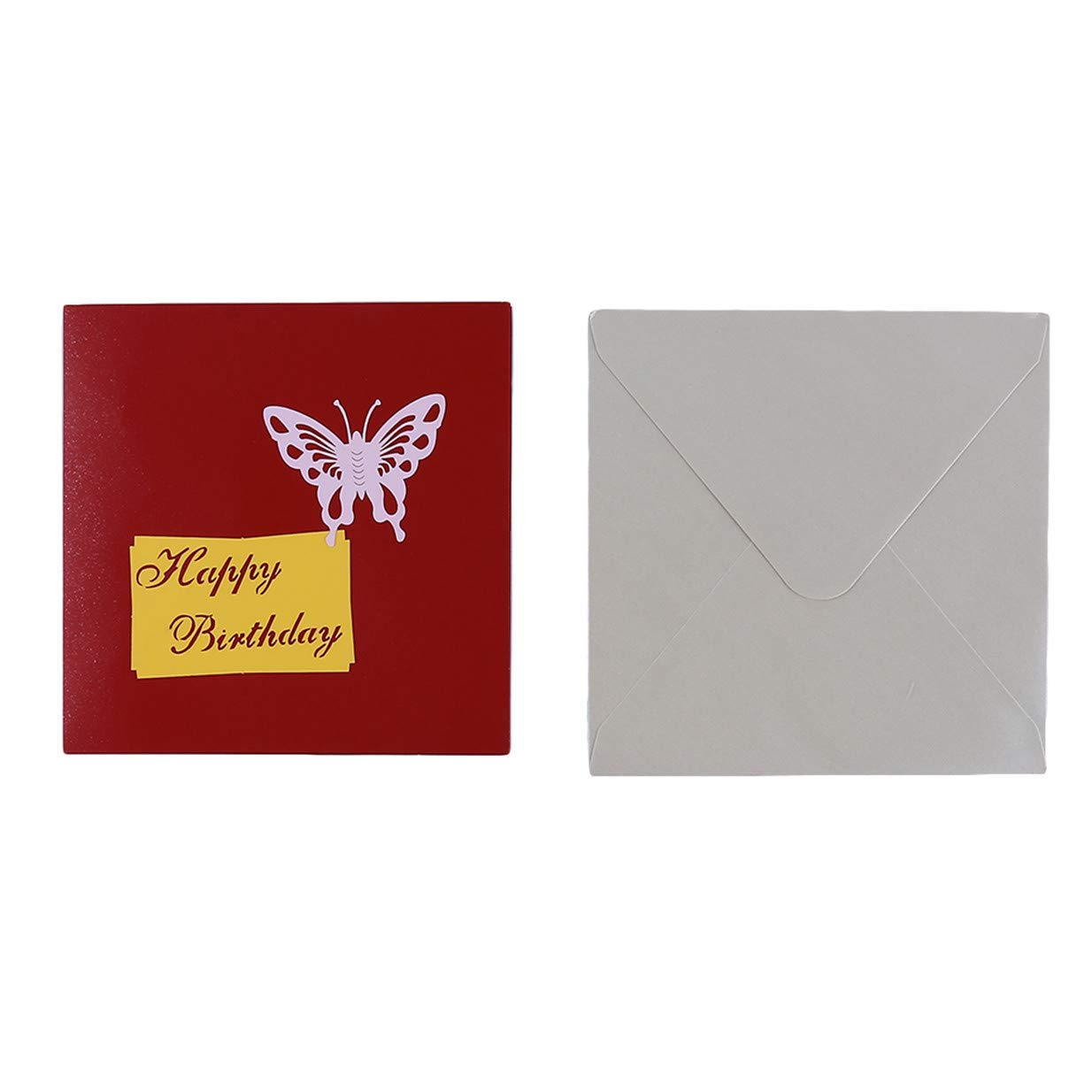 3D Creative Hollow Birthday Cake Blessing Greeting Card Xeminor