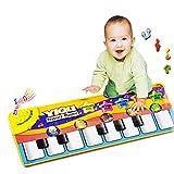 US Fast Shipment Tuscom New Touch Gym Carpet Mat Play Keyboard Musical Music Singing ,for Kids Baby Girl Gift Promote Brain Development (Carpet Mat)