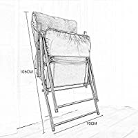 ZXL Folding Chair,Deck Chair Bed Frame Adjustable Folding