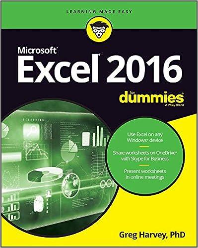 Excel 2016 For Dummies (Excel for Dummies) 1, Greg Harvey, eBook ...