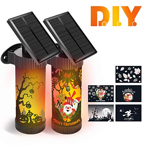 CINBOS Christmas Lights, 2PCS LED Solar Wall Lights,